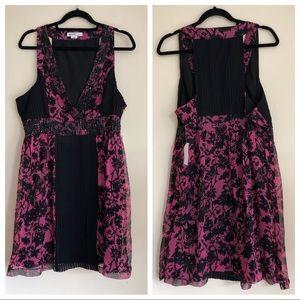 SALE Kensie Silk Beaded Embellished Floral Dress